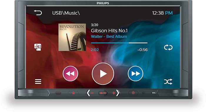 Musica e video live in auto