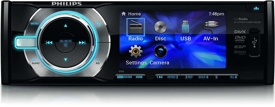 Disfrutá de música y videos en vivo en tu automóvil