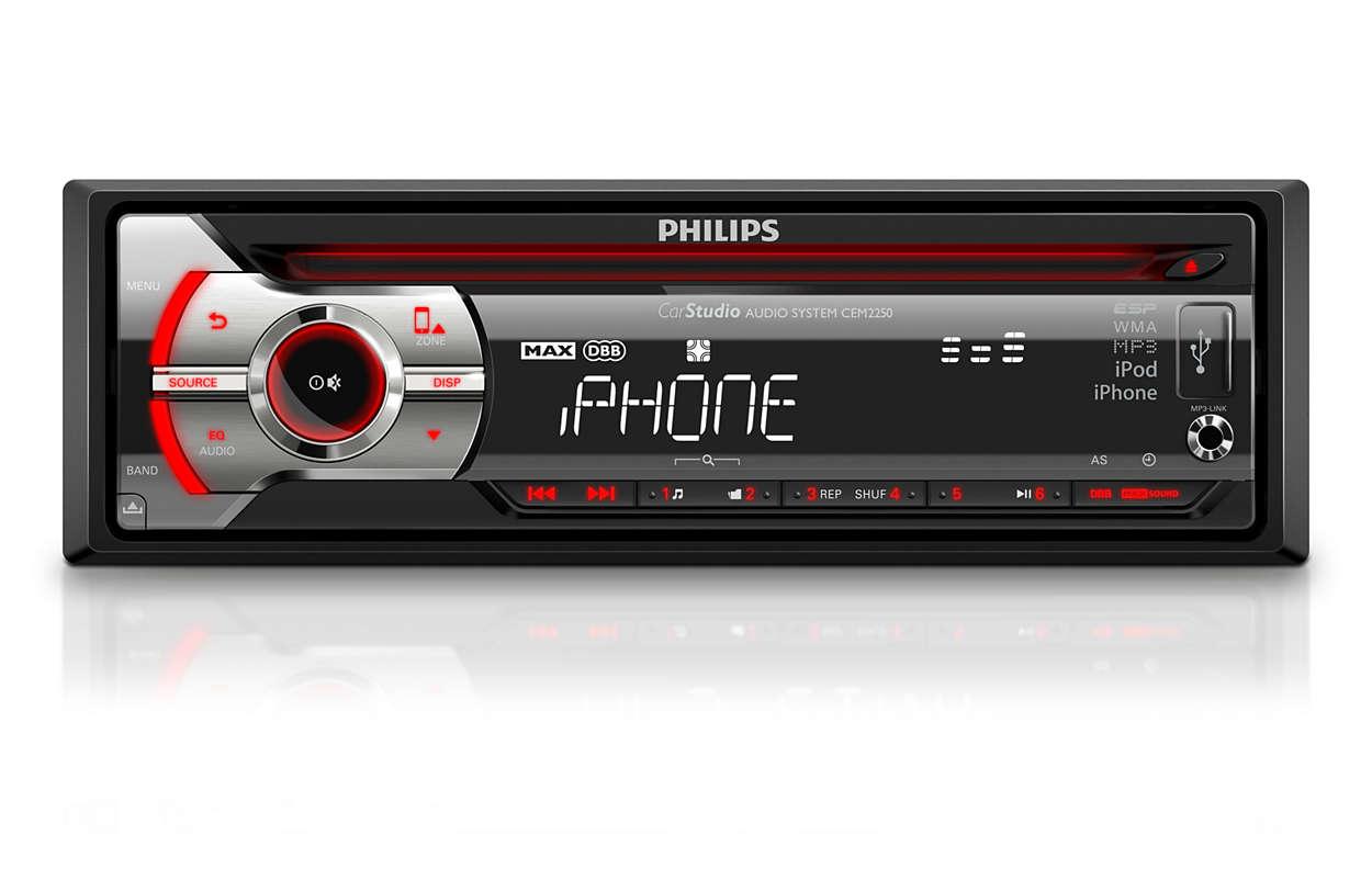 Car audio system CEM2250/98 | Philips