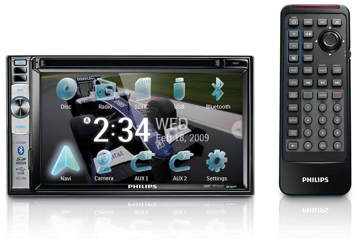 超清晰顯示器,適合觀賞影片與導航