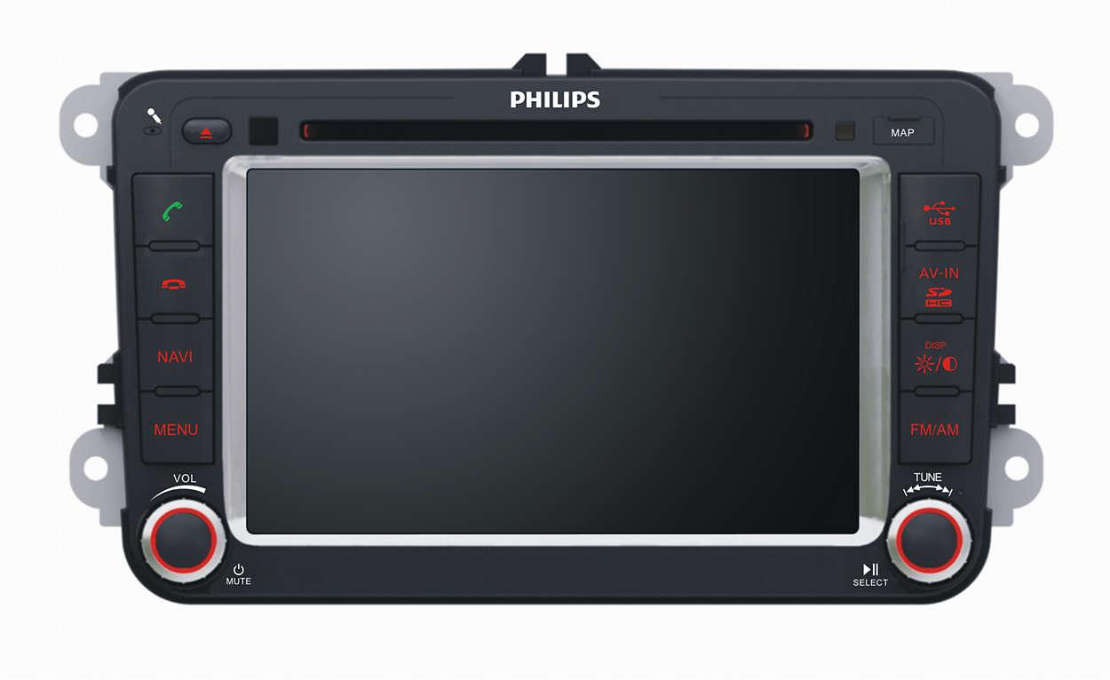 超清晰显示屏带来优越的观影和导航体验