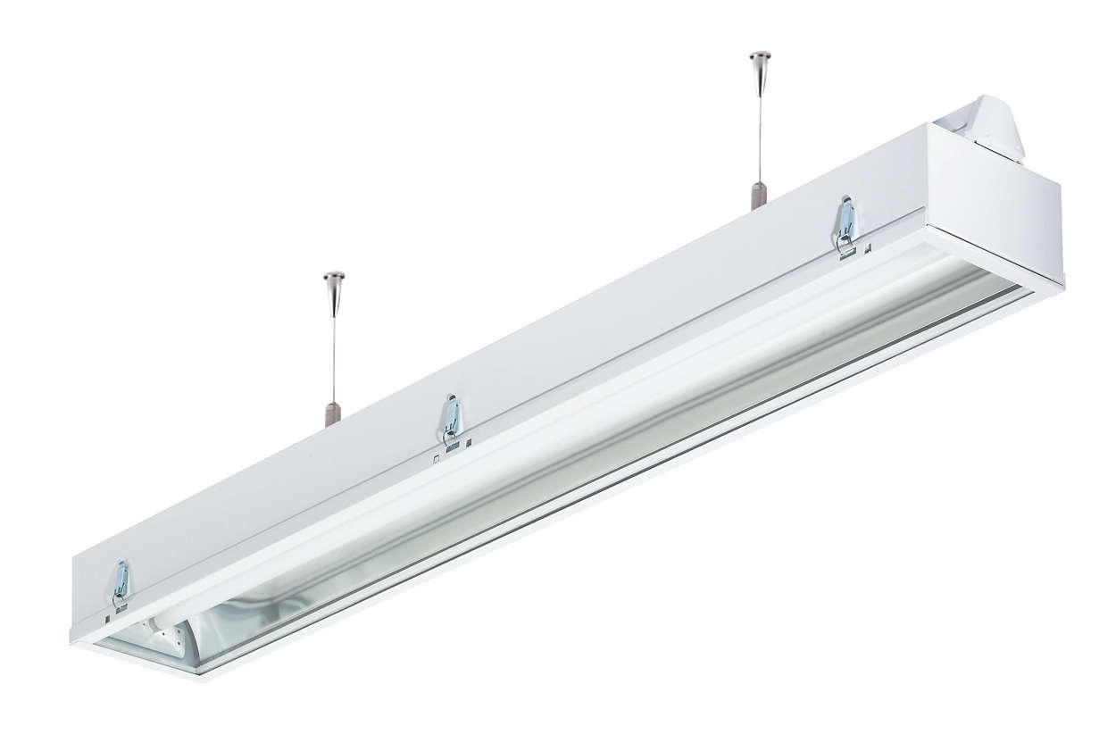 Maxos, TL-D IP63 reflector units