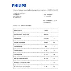 COP2000/01  Podaci o energetskoj učinkovitosti