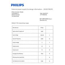 COP2001/01  Données relatives à l'efficacité énergétique