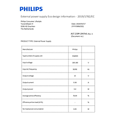 COP2003/01  Datos de eficiencia energética