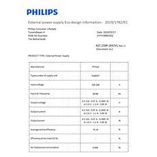 COP2004/01  Données relatives à l'efficacité énergétique