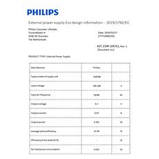 COP2005/01  Gegevens over energie-efficiëntie