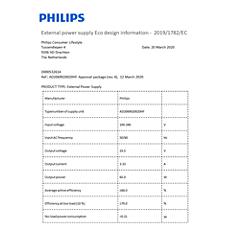 COP2008/01  Dati di efficienza energetica