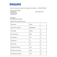 COP2011/01 -    Datos de eficiencia energética