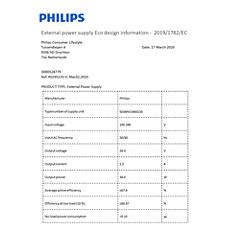 COP2012/01 -    Dane dotyczące wydajności energetycznej