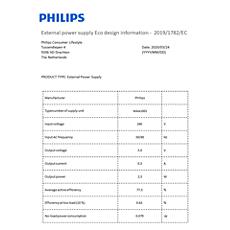 COP2014/01  Dane dotyczące wydajności energetycznej