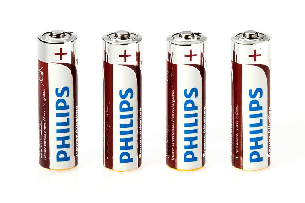 AA-batterijen voor virtuele muur