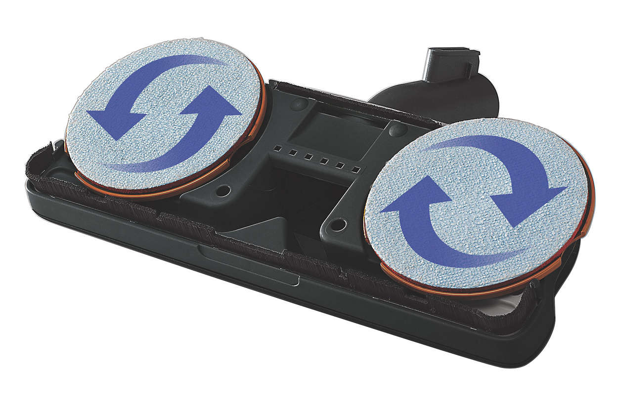 Mikrofaser-Ersatzpads für Super-Parkettbürste