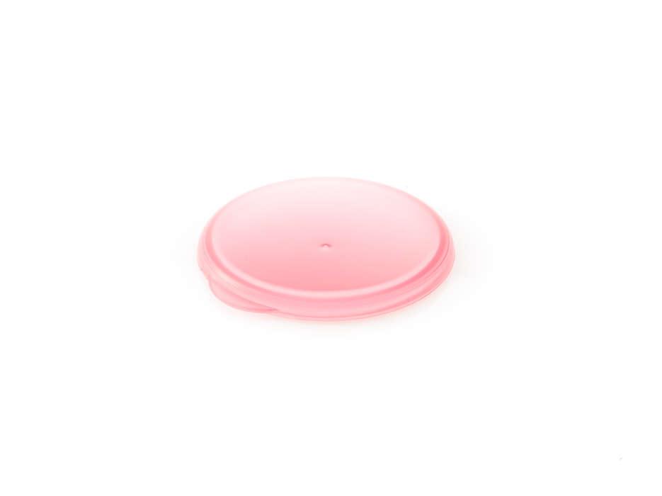 Tapa rosa para sellar el vaso para mayores