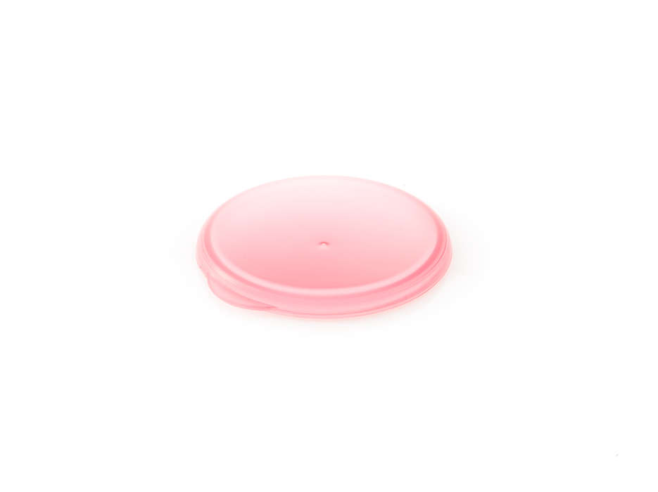 Roze dop om de grote-mensenbeker af te sluiten