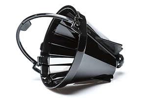 Zwart, formaat 1x2, filterhouder