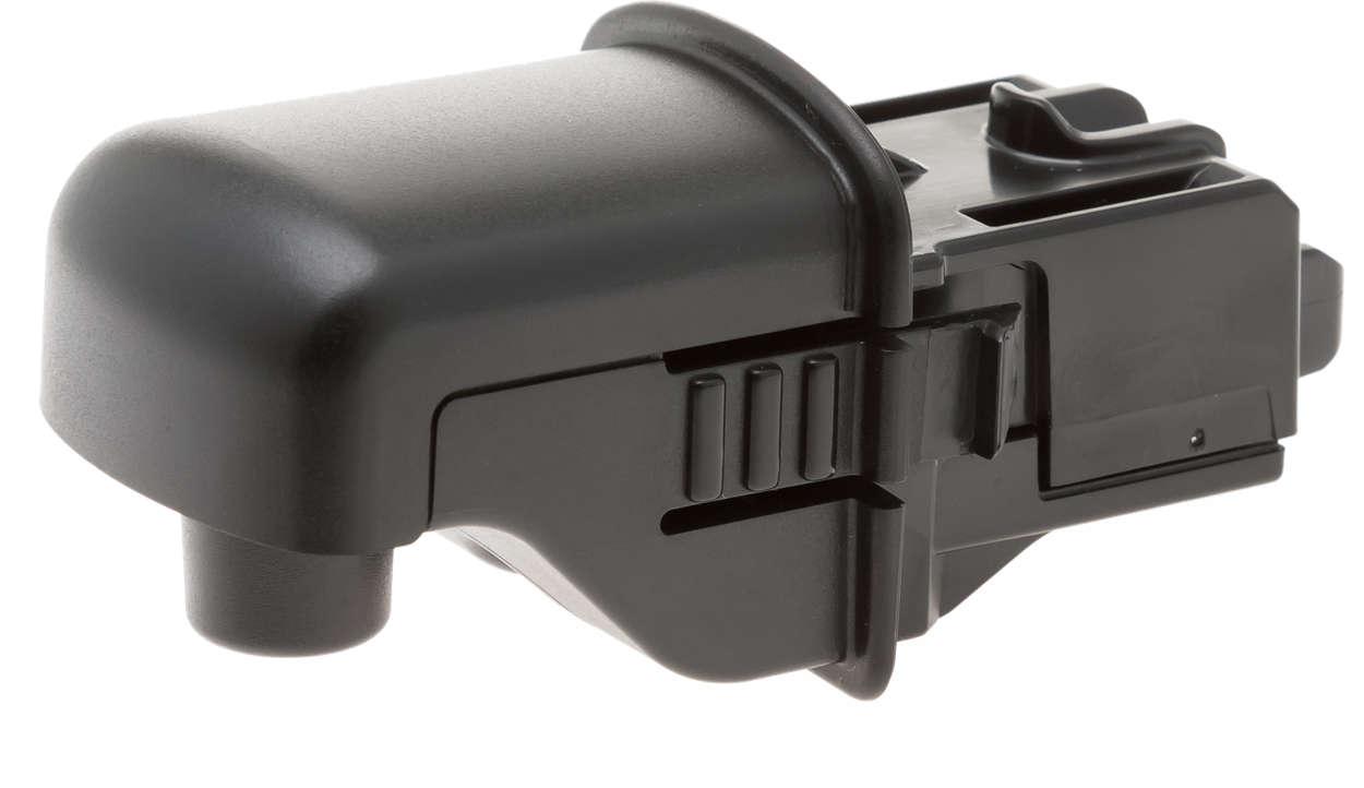 Czarny dozownik wody