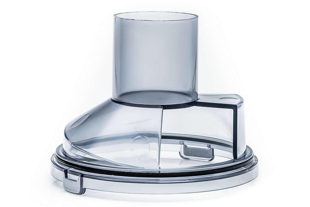 Contenitore polvere facile da svuotare con pulsante di rilascio.