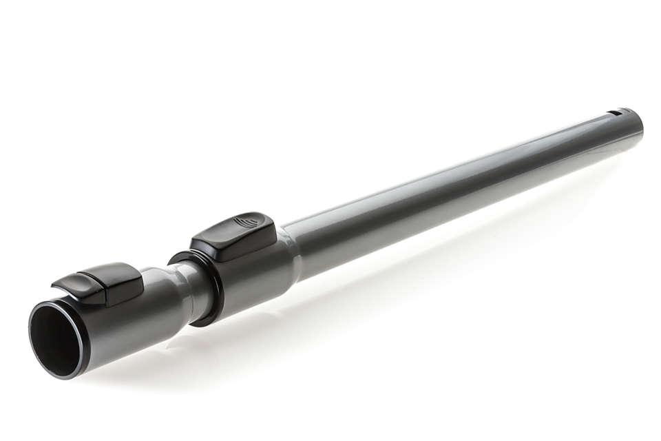 Zweiteiliges Teleskoprohr aus Metall mit ActiveLock-Kupplung