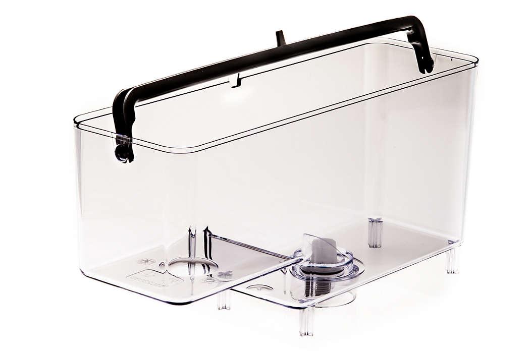 Pour l'eau de votre machine espresso