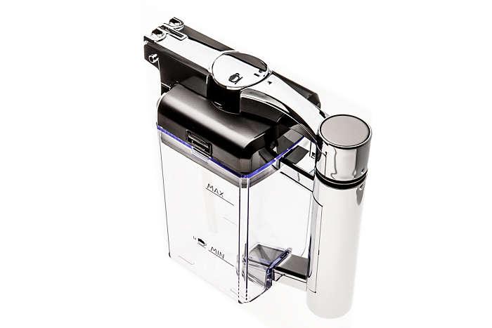 La pieza para preparar espuma del espumador de leche