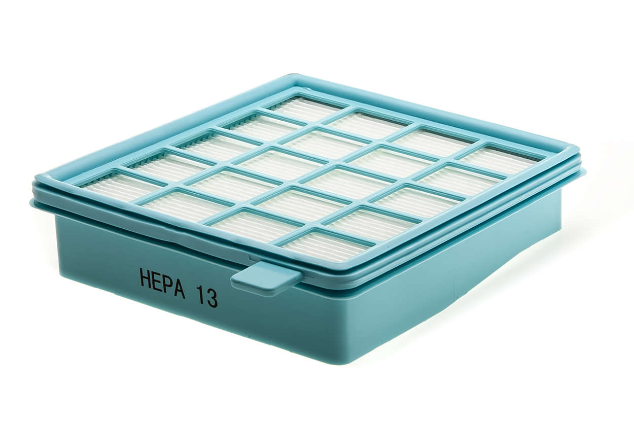 Le filtre HEPA13 piège plus de 99,95% des poussières fines