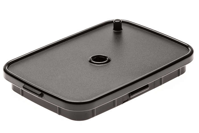 Black carafe cover lid