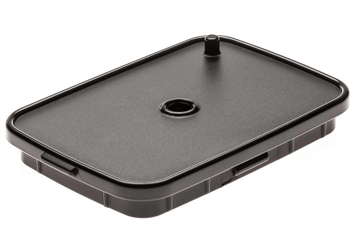 Tapa para cubierta de recipiente para la leche en negro