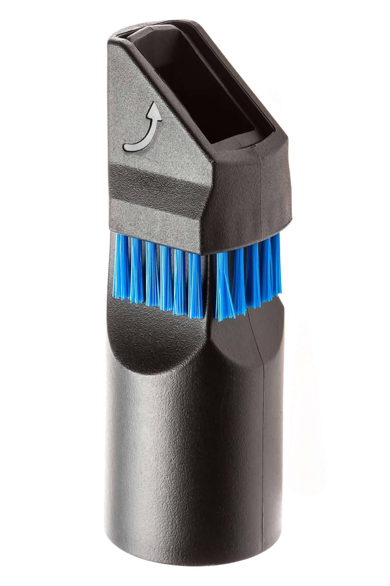 Accesorio de cepillo suave y boquilla estrecha 2 en 1
