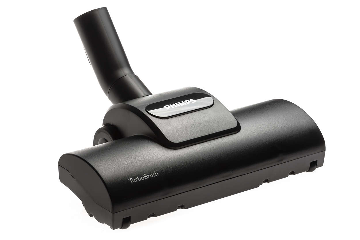Düse mit Turbobürste für eine gründliche Teppichreinigung.