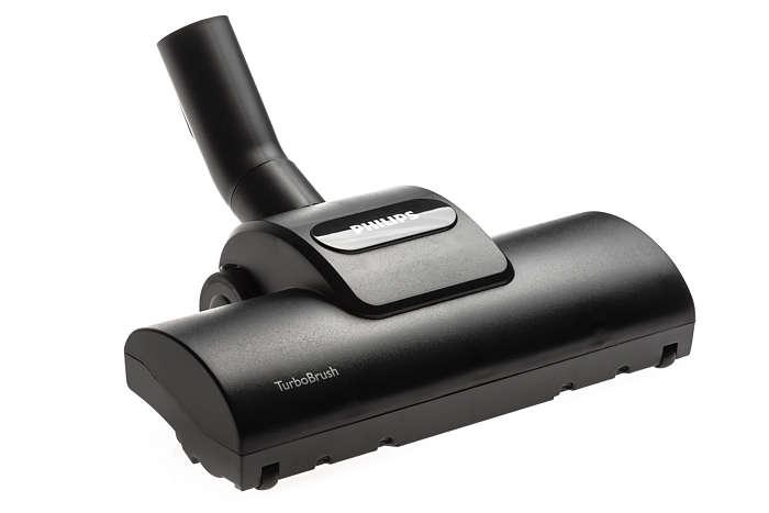 Cabezal con cepillo Turbo para limpieza profunda de alfombras.