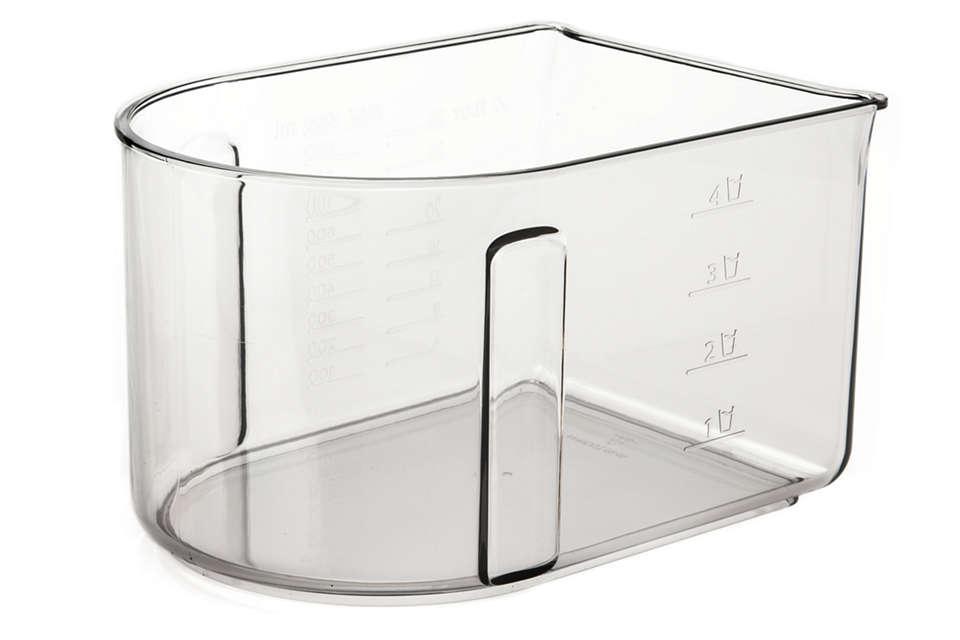 per sostituire il contenitore per la polpa in uso