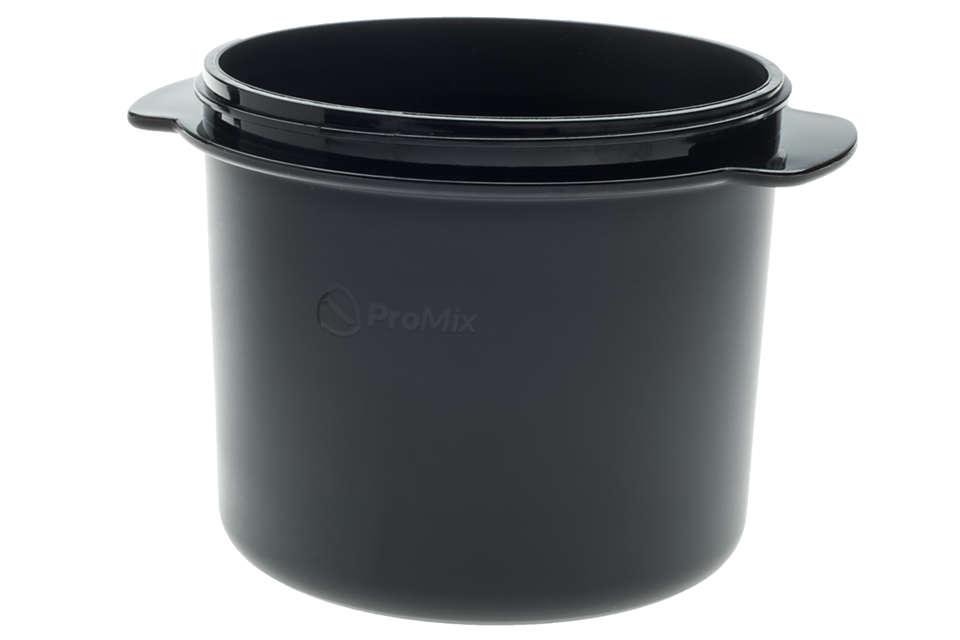 para intercambiar el recipiente para sopa actual