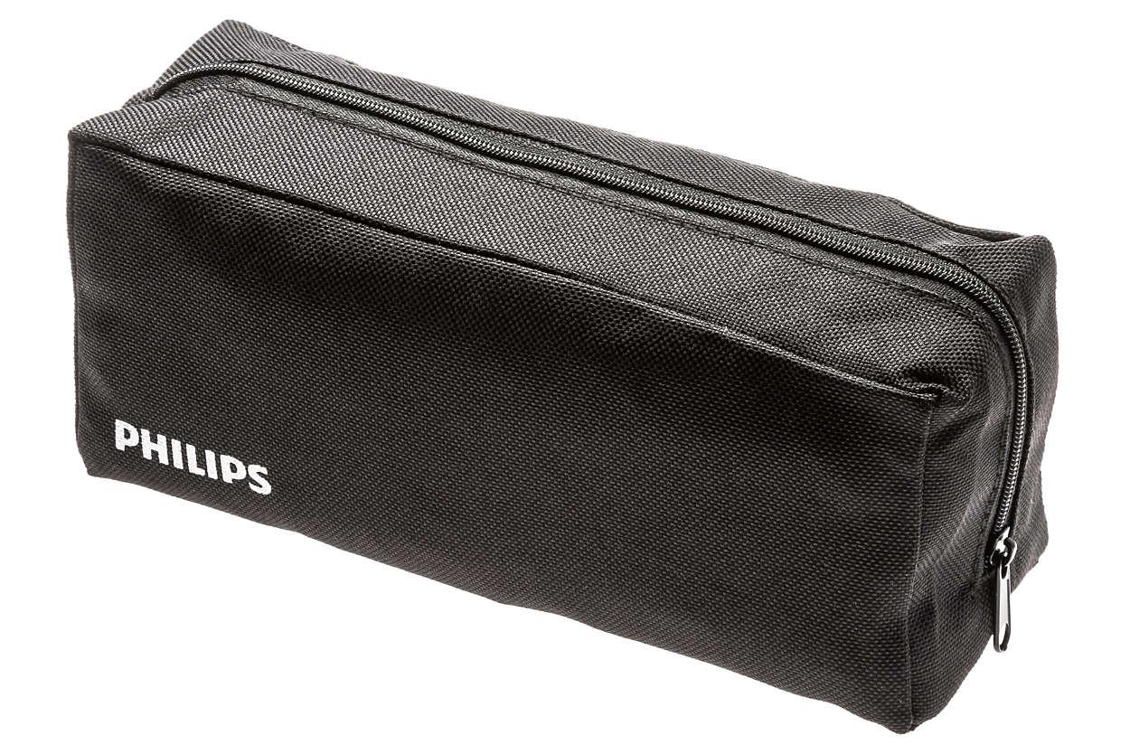 Una funda para guardar cómodamente tu aparato.