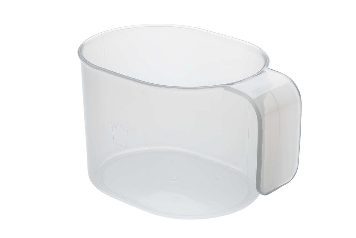 para cambiar el vaso medidor de harina actual