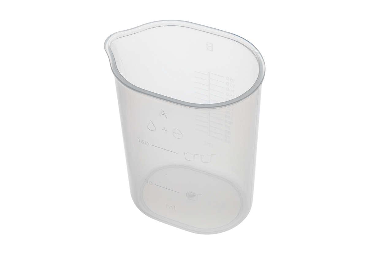 para cambiar el vaso medidor de agua actual