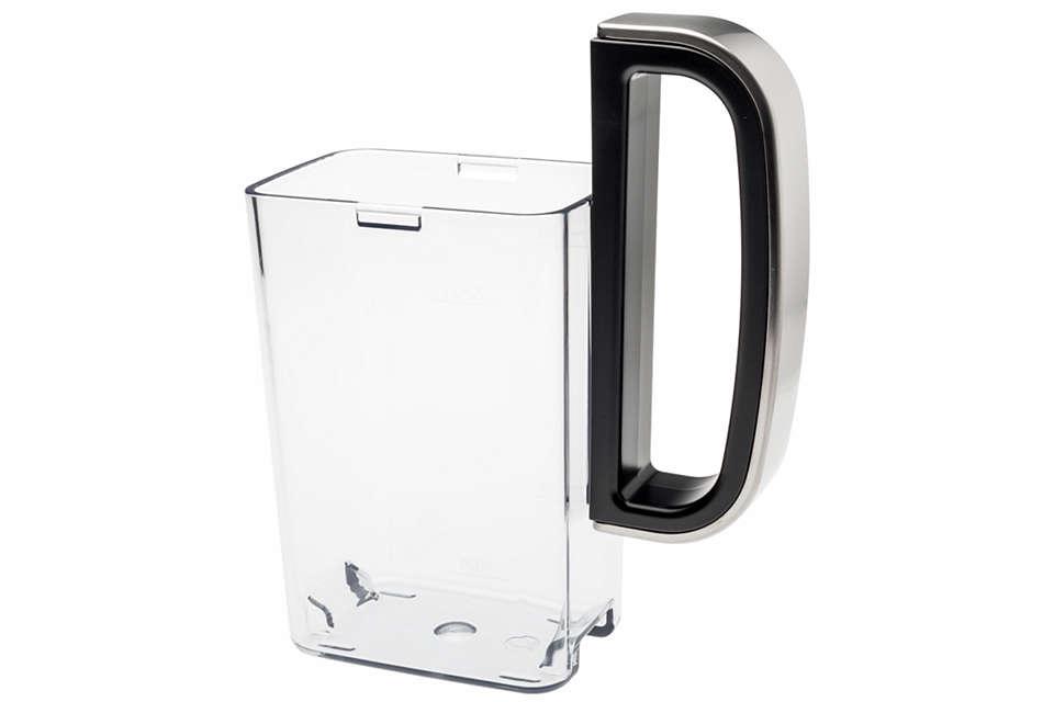 Czarny uchwyt pojemnika na mleko