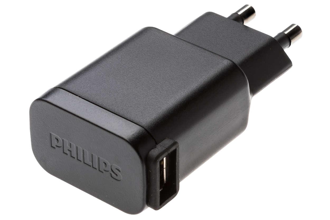 Adaptador de corriente USB para cargar el dispositivo de afeitado
