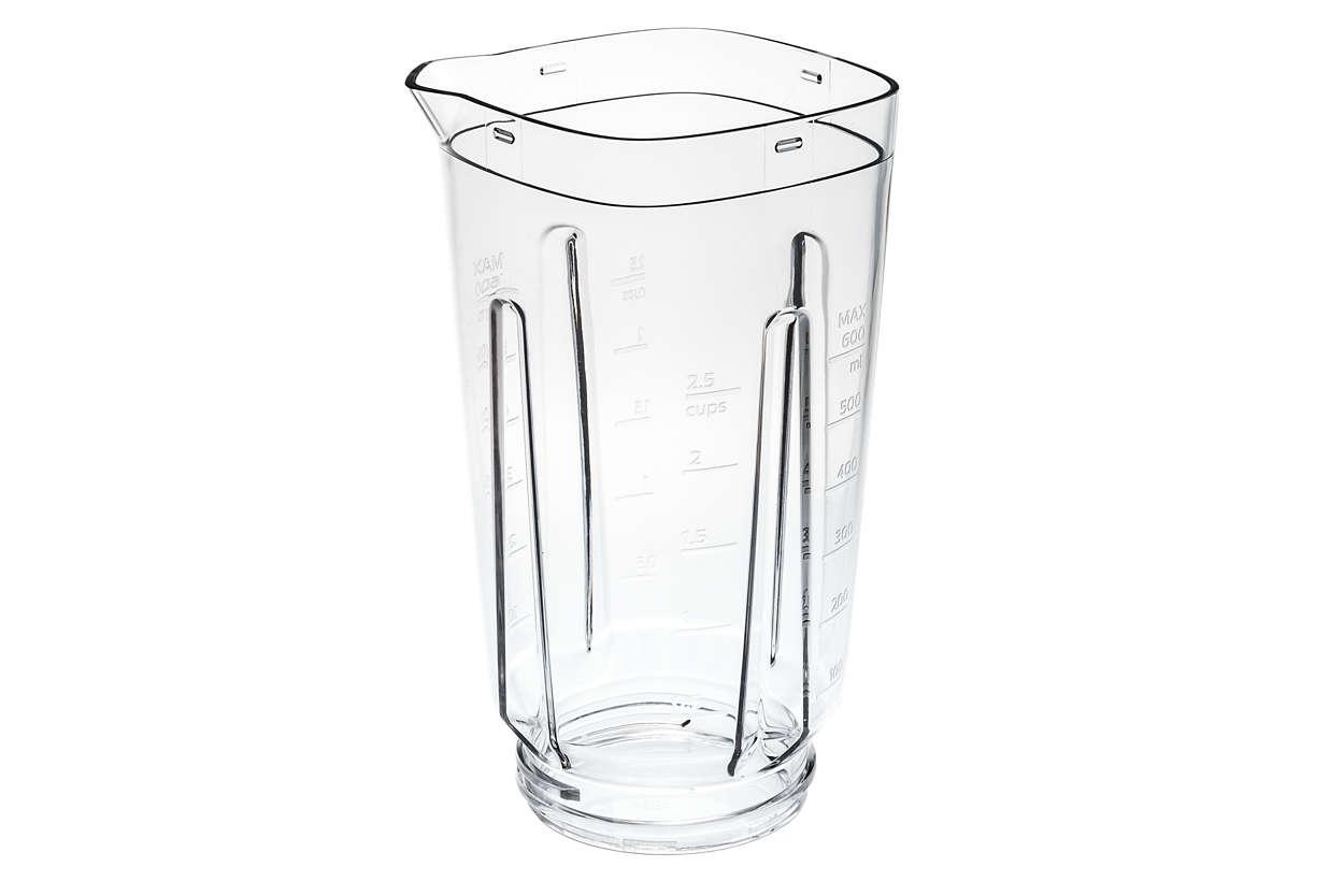 gebruiken voor de blender met plastic kan