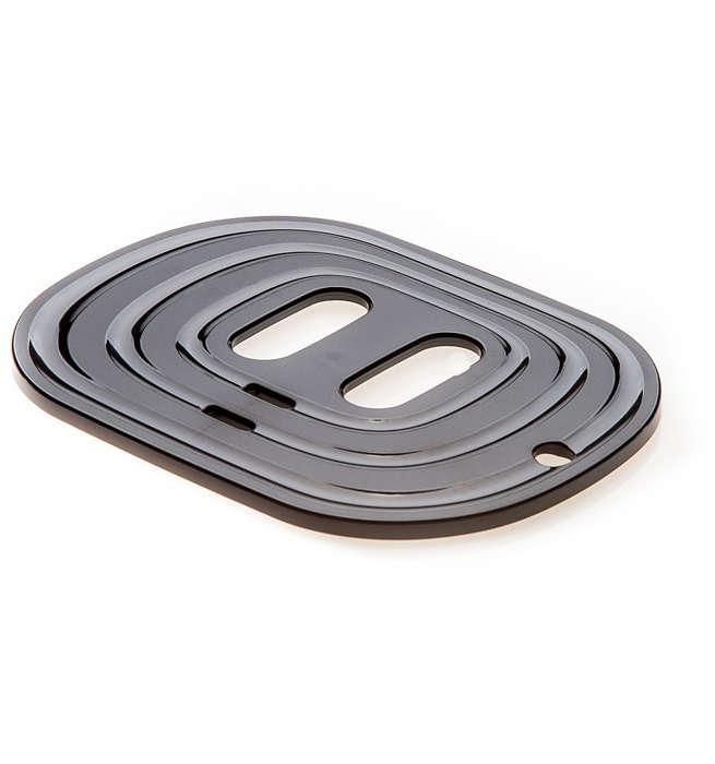 Die Platte, auf der Sie Ihre Tassen abstellen können