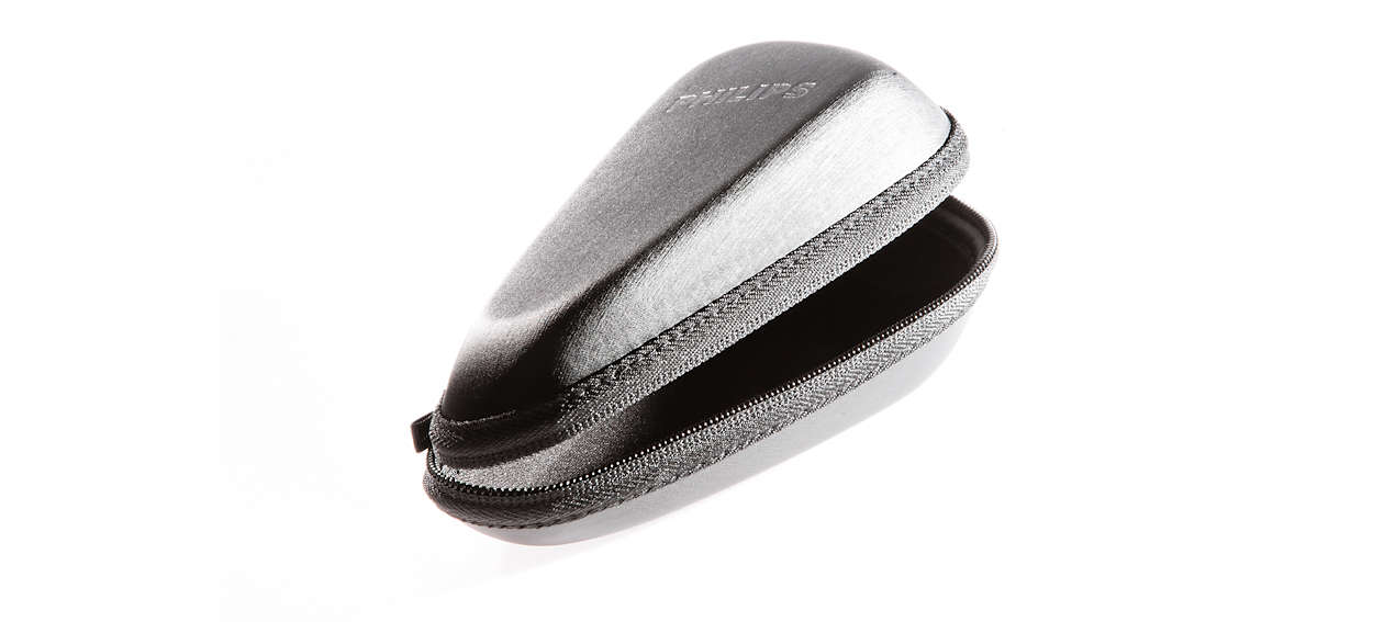 Eine Tasche zur sicheren Aufbewahrung Ihres Rasierers.