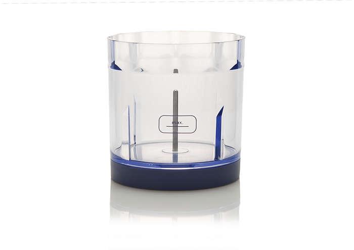 Zum Austausch des derzeit verwendeten Zerkleinerer-Behälters.
