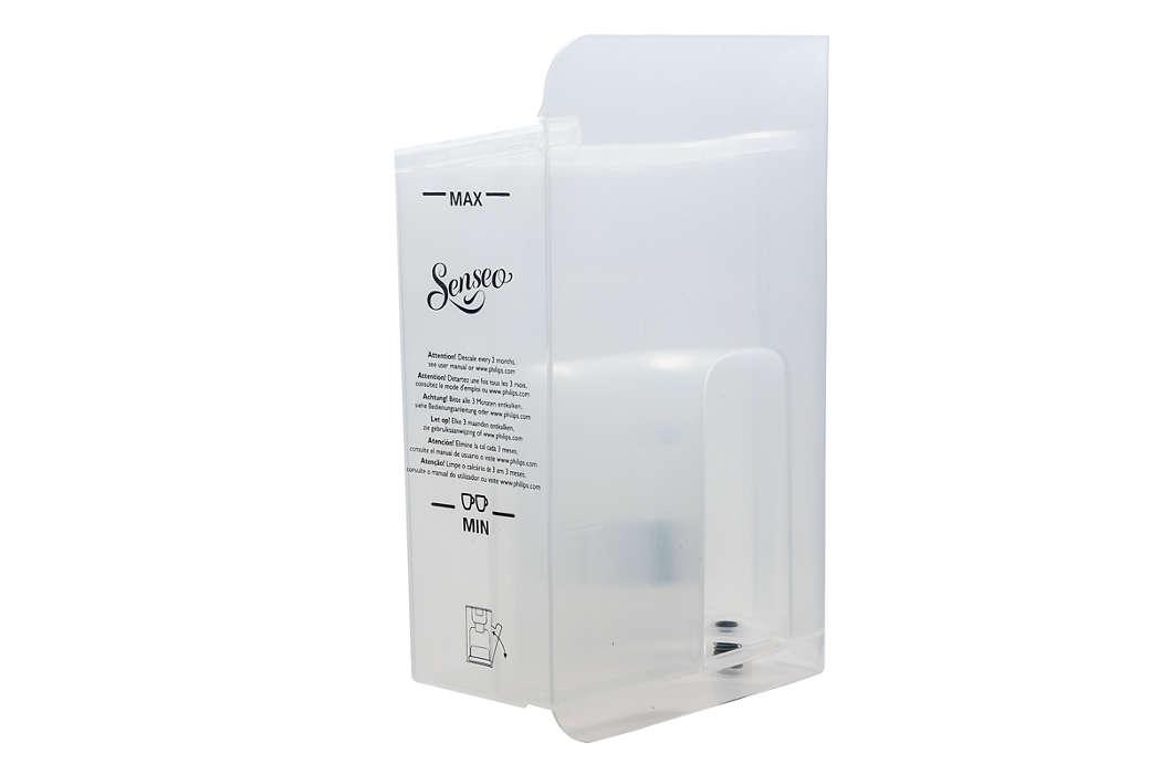 Para almacenar el agua de la cafetera SENSEO® Quadrante