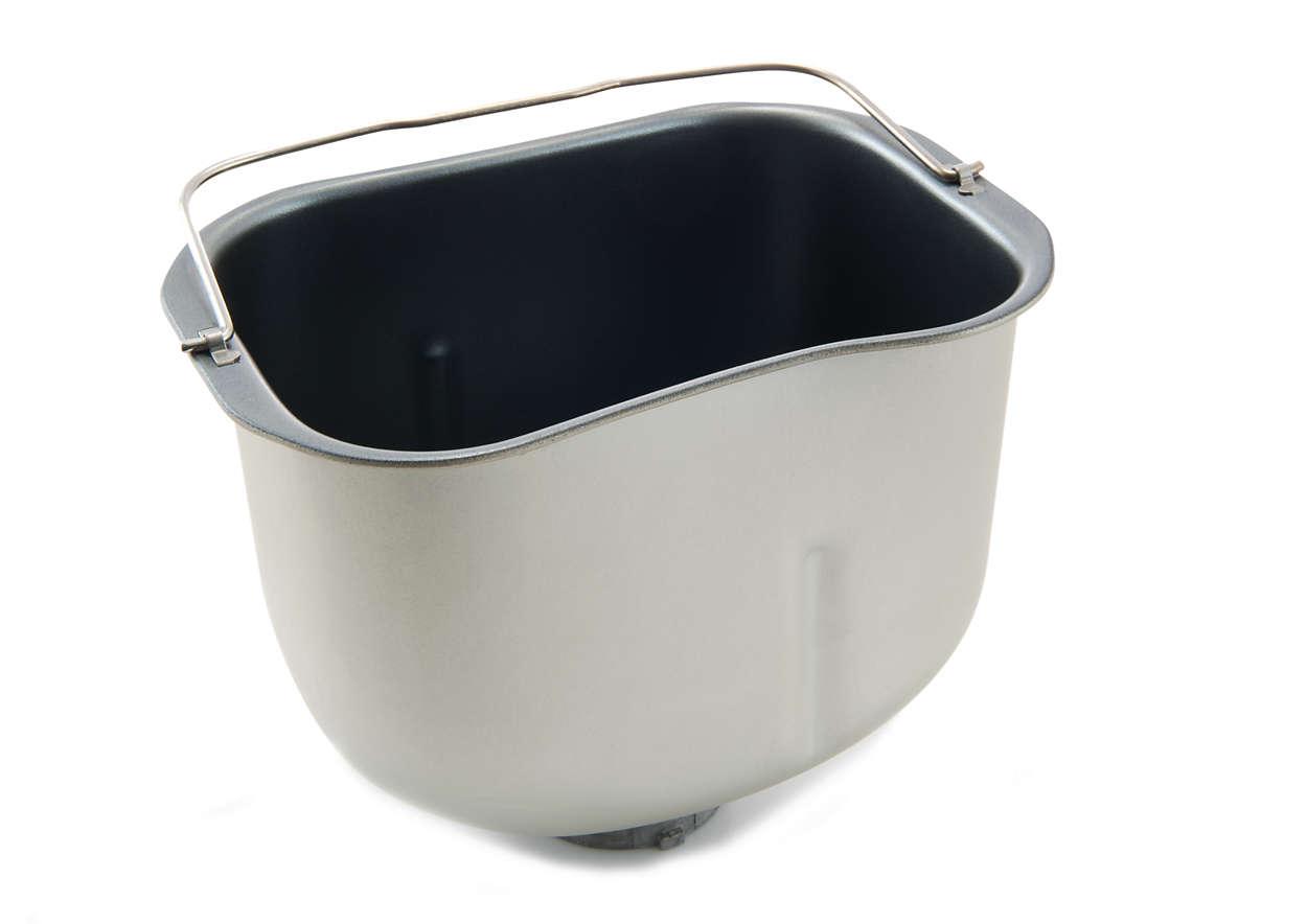 Recipiente para amasar y hornear pan