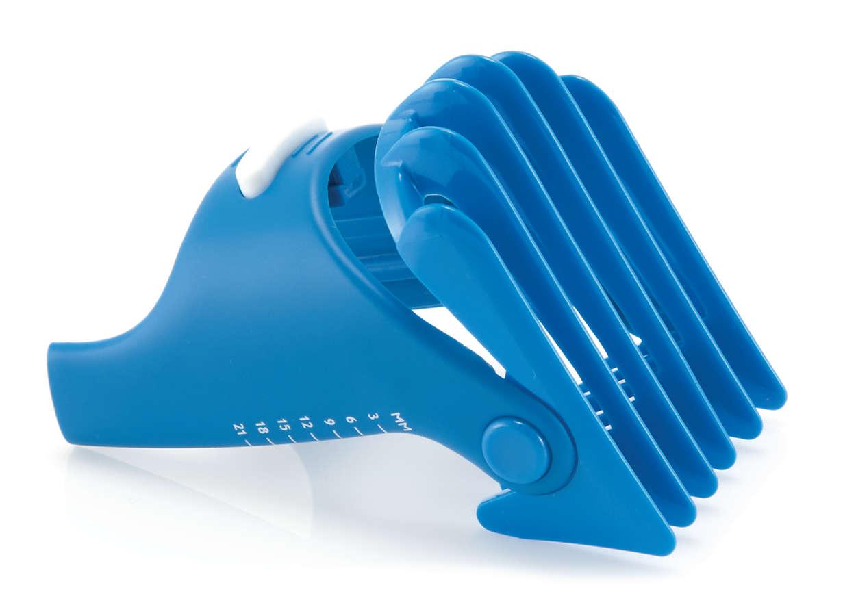 Hair clipper comb (3-21 mm) (1/8-7/8 in)