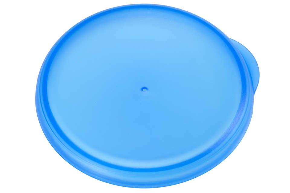 Couvercle bleu pour fermer votre tasse d'apprentissage
