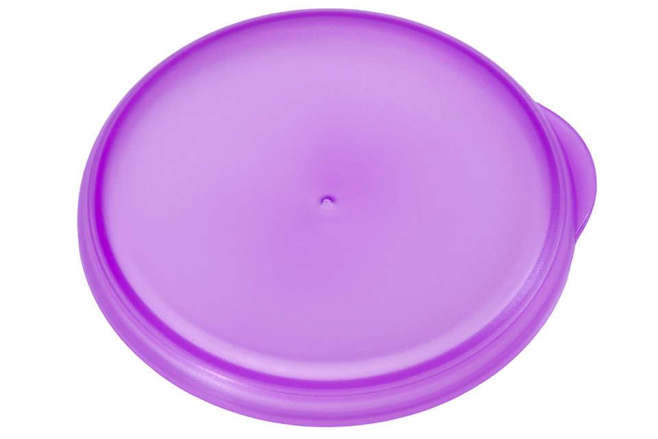 Couvercle violet pour fermer votre tasse d'apprentissage
