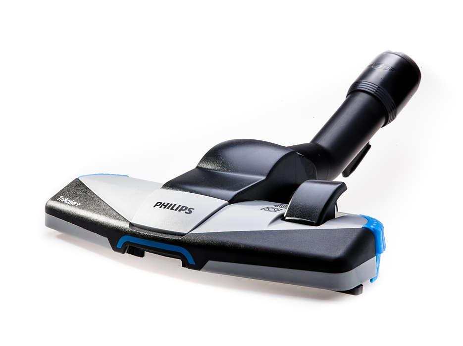 Cepillo multiuso para alfombras y suelos duros