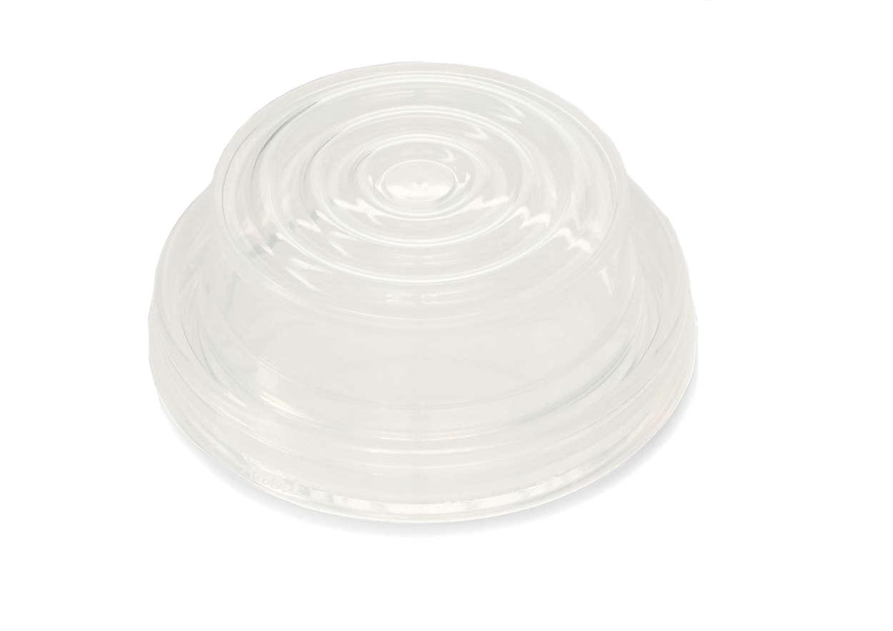 Creëert een vacuüm in de borstkolf.