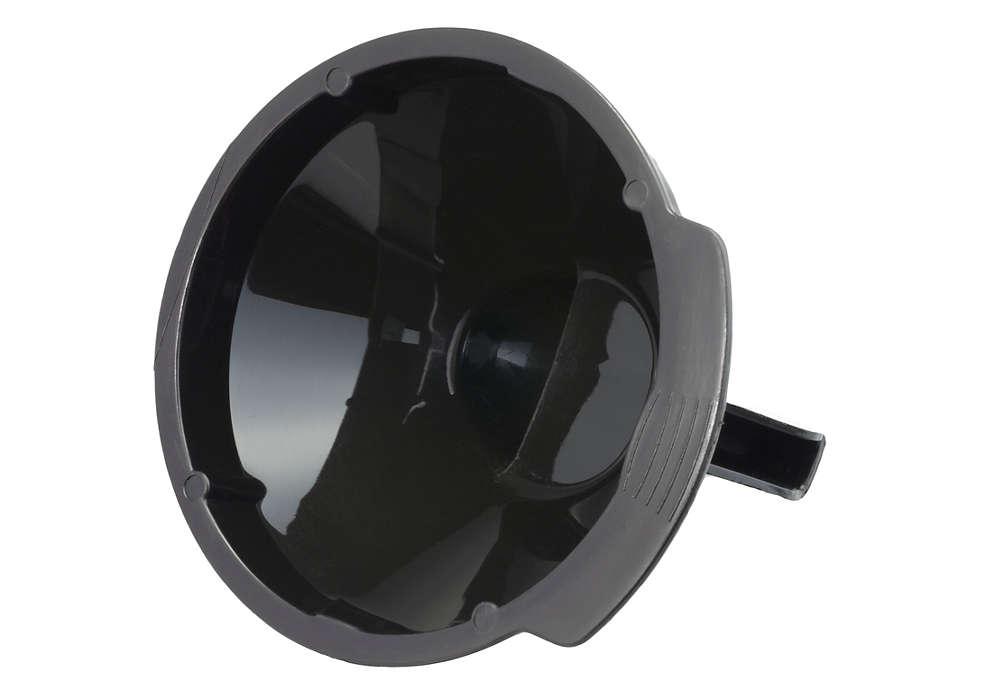 Canaliza el café desde el soporte para dosis a la taza